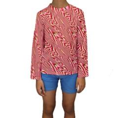 Abstract Neutral Pattern Kids  Long Sleeve Swimwear