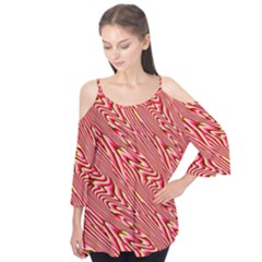 Abstract Neutral Pattern Flutter Tees
