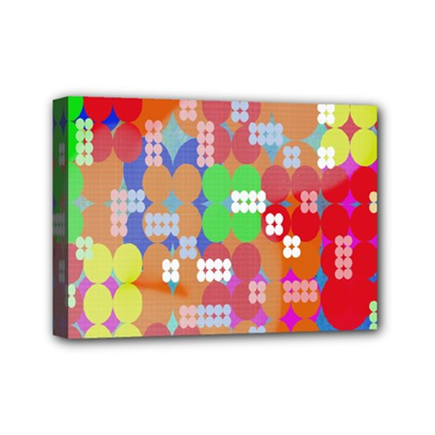 Abstract Polka Dot Pattern Digitally Created Abstract Background Pattern With An Urban Feel Mini Canvas 7  x 5