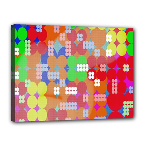 Abstract Polka Dot Pattern Digitally Created Abstract Background Pattern With An Urban Feel Canvas 16  X 12