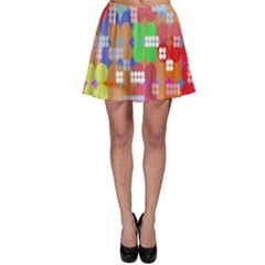 Abstract Polka Dot Pattern Digitally Created Abstract Background Pattern With An Urban Feel Skater Skirt