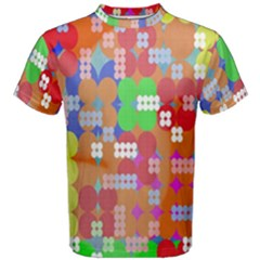 Abstract Polka Dot Pattern Digitally Created Abstract Background Pattern With An Urban Feel Men s Cotton Tee