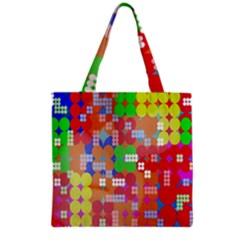 Abstract Polka Dot Pattern Digitally Created Abstract Background Pattern With An Urban Feel Grocery Tote Bag