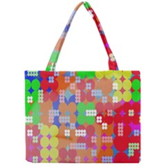 Abstract Polka Dot Pattern Digitally Created Abstract Background Pattern With An Urban Feel Mini Tote Bag