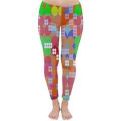 Abstract Polka Dot Pattern Digitally Created Abstract Background Pattern With An Urban Feel Classic Winter Leggings