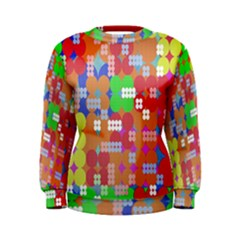 Abstract Polka Dot Pattern Digitally Created Abstract Background Pattern With An Urban Feel Women s Sweatshirt
