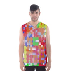 Abstract Polka Dot Pattern Digitally Created Abstract Background Pattern With An Urban Feel Men s Basketball Tank Top