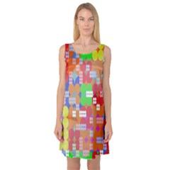 Abstract Polka Dot Pattern Digitally Created Abstract Background Pattern With An Urban Feel Sleeveless Satin Nightdress