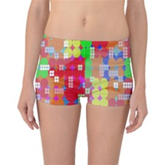 Abstract Polka Dot Pattern Digitally Created Abstract Background Pattern With An Urban Feel Boyleg Bikini Bottoms