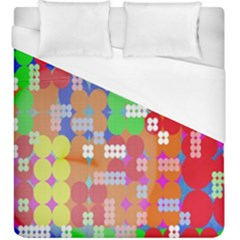 Abstract Polka Dot Pattern Digitally Created Abstract Background Pattern With An Urban Feel Duvet Cover (king Size)