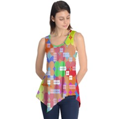 Abstract Polka Dot Pattern Digitally Created Abstract Background Pattern With An Urban Feel Sleeveless Tunic