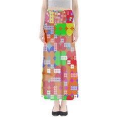 Abstract Polka Dot Pattern Digitally Created Abstract Background Pattern With An Urban Feel Maxi Skirts