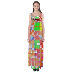 Abstract Polka Dot Pattern Digitally Created Abstract Background Pattern With An Urban Feel Empire Waist Maxi Dress