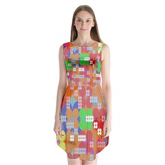 Abstract Polka Dot Pattern Digitally Created Abstract Background Pattern With An Urban Feel Sleeveless Chiffon Dress