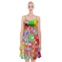 Abstract Polka Dot Pattern Digitally Created Abstract Background Pattern With An Urban Feel Spaghetti Strap Velvet Dress