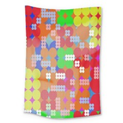 Abstract Polka Dot Pattern Digitally Created Abstract Background Pattern With An Urban Feel Large Tapestry