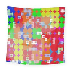 Abstract Polka Dot Pattern Digitally Created Abstract Background Pattern With An Urban Feel Square Tapestry (large)