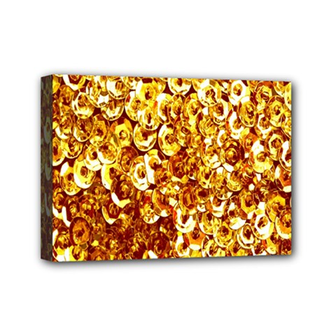 Yellow Abstract Background Mini Canvas 7  x 5
