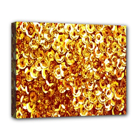 Yellow Abstract Background Deluxe Canvas 20  x 16