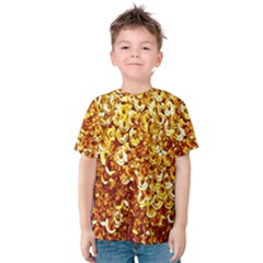 Yellow Abstract Background Kids  Cotton Tee