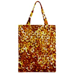 Yellow Abstract Background Zipper Classic Tote Bag