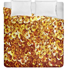 Yellow Abstract Background Duvet Cover Double Side (king Size)