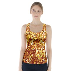 Yellow Abstract Background Racer Back Sports Top