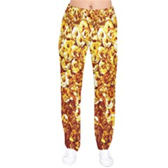 Yellow Abstract Background Drawstring Pants