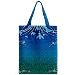 Floral 2d Illustration Background Zipper Classic Tote Bag