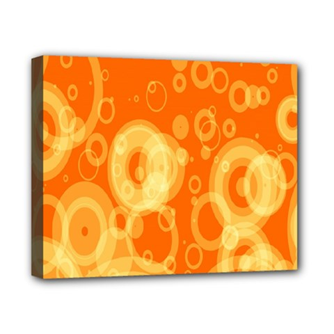 Retro Orange Circle Background Abstract Canvas 10  X 8