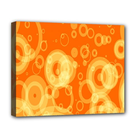 Retro Orange Circle Background Abstract Deluxe Canvas 20  X 16