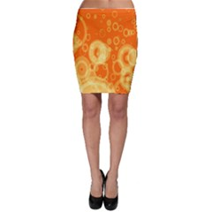 Retro Orange Circle Background Abstract Bodycon Skirt