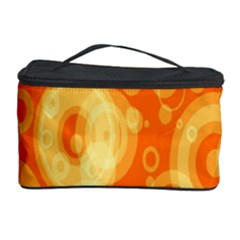 Retro Orange Circle Background Abstract Cosmetic Storage Case