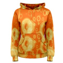 Retro Orange Circle Background Abstract Women s Pullover Hoodie