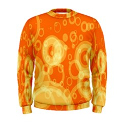 Retro Orange Circle Background Abstract Men s Sweatshirt