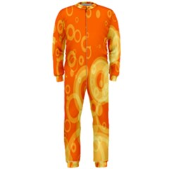 Retro Orange Circle Background Abstract OnePiece Jumpsuit (Men)