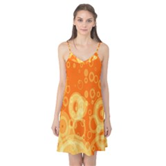 Retro Orange Circle Background Abstract Camis Nightgown