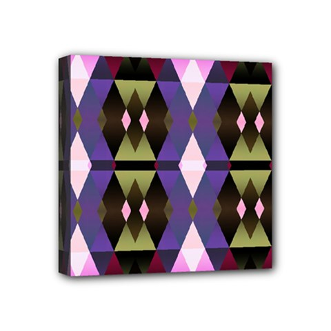 Geometric Abstract Background Art Mini Canvas 4  X 4