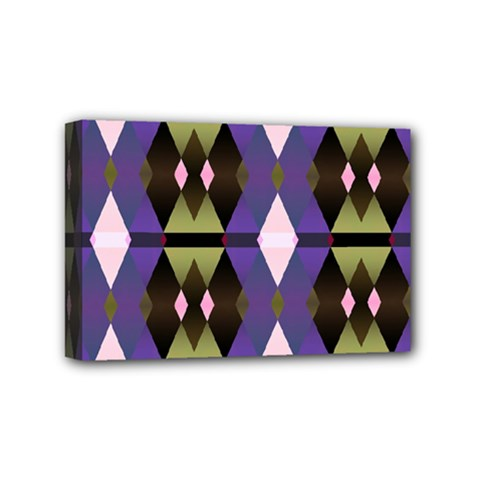 Geometric Abstract Background Art Mini Canvas 6  x 4
