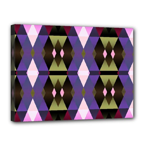 Geometric Abstract Background Art Canvas 16  x 12