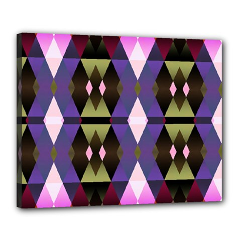 Geometric Abstract Background Art Canvas 20  X 16