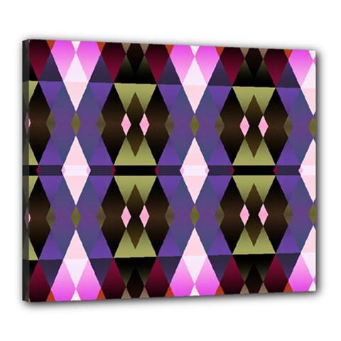 Geometric Abstract Background Art Canvas 24  x 20