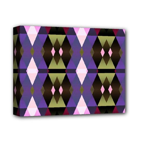 Geometric Abstract Background Art Deluxe Canvas 14  x 11