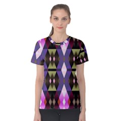 Geometric Abstract Background Art Women s Cotton Tee