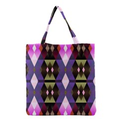 Geometric Abstract Background Art Grocery Tote Bag