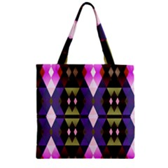 Geometric Abstract Background Art Zipper Grocery Tote Bag