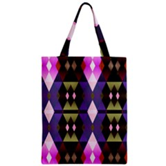Geometric Abstract Background Art Zipper Classic Tote Bag