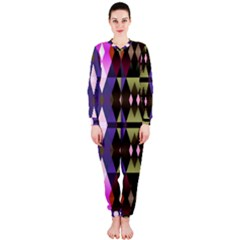 Geometric Abstract Background Art Onepiece Jumpsuit (ladies)