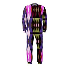 Geometric Abstract Background Art OnePiece Jumpsuit (Kids)