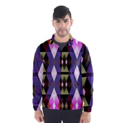 Geometric Abstract Background Art Wind Breaker (Men)